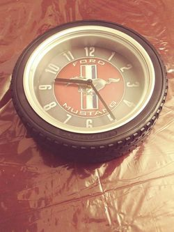 Tire Shaped Ford Mustang Clock for Sale in New Braunfels,  TX