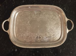 Small Vintage Silver Plate Tray for Sale in Framingham, MA