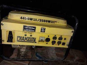Champion Generator 4450-peak/3500-running watts for Sale in Chandler, AZ