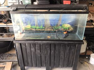 """55"""" fish tank with stand for Sale in Surprise, AZ"""