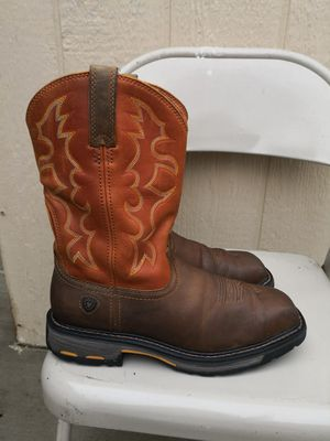 Ariat steel toe work boots size 9.5 D for Sale in Riverside, CA