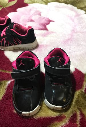 Girl toddler tennis shoes Nike, LA gear and Jordan. boots Jambi boots for Sale in Grandview, MO
