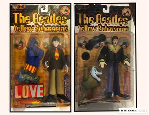 The Beatles Yellow Submarine Feature Film Figures Paul With Glove & Love Base And John With Jeremy NIB for Sale in San Antonio, TX