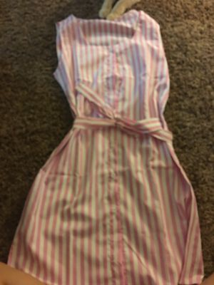 Pink and white striped dress for Sale in Palmdale, CA