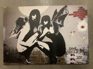Banksy Angel and Devil Reprint for Sale in Seattle, WA