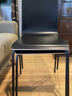 Pair of IKEA Martin Stackable Chairs, Black for Sale in Seattle,  WA