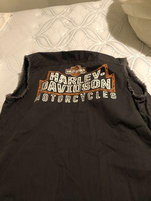Men's large Harley Davidson vest for Sale in Denver, CO