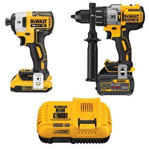Dewalt 20v flexvolt xr hammer drill combo kit for Sale in Hemet, CA
