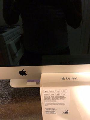 Apple TV 4K n apple desktop 21.5 iMac intel core 5 for Sale in Chicago, IL