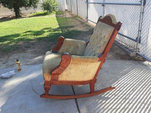 Antique Rocking Chair Art Deco Swan Design for Sale in Riverside, CA