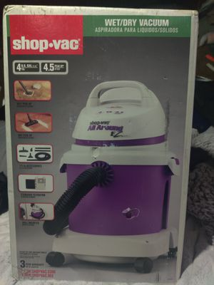 Shop-Vac EZ Series Wet Dry Vac with 4.5 Peak Horsepower, Grape/Gray for Sale in Portland, OR