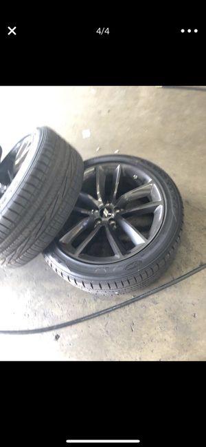 20 inch black rims for Sale in Corona, CA