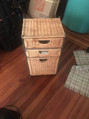 IKEA wicker drawers for Sale in Queens, NY