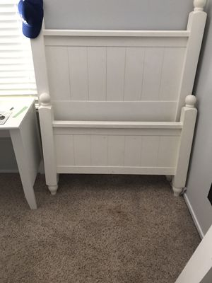 White Twin Bed Frame and Mattress for Sale in Los Angeles, CA