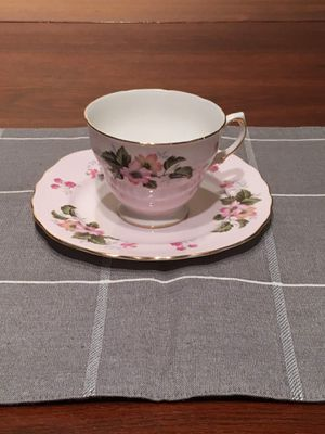 Pink Floral Tea Cup for Sale in Herndon, VA