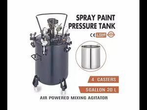 VEVOR Pressure Pot 5Gal Pressure Pot Paint Sprayer 20L Pressure Feed Paint Pot Tank Mixer Sprayer Regulator Automatic Air Agitator Stirrer for Sale in Alta Loma, CA