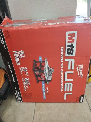 Milwaukee BRAND NEW table saw never used 300$!!! for Sale in Fort Worth, TX