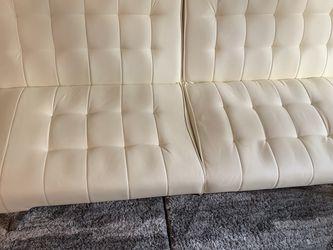 White Leather Futon for Sale in Shoreline,  WA
