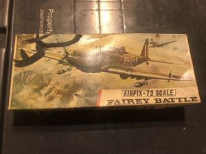Vintage Airfix - 72 scale kit Fairey Battle for Sale in Miami, FL