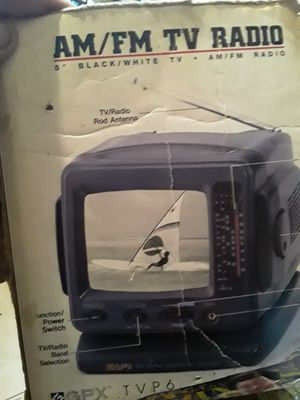 AM/FM Radio Camping, Fishing, Vacation, Exedra, Portable Black & White Mini TV for Sale in Allentown, PA
