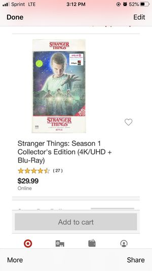 Stranger thinks season 1 for Sale in Los Angeles, CA