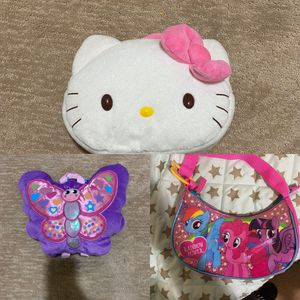 Girls Plusher Backpacks And Purse for Sale in Warren, NJ