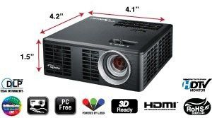 Optima ML550 Portable/Pocket 3D Ready Projector for Sale in McKinney, TX