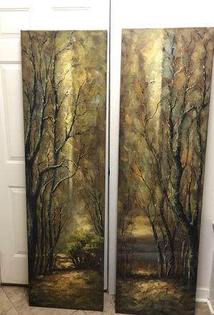 Home Decor - Landscape panels with hanging hardware for Sale in Glen Allen, VA