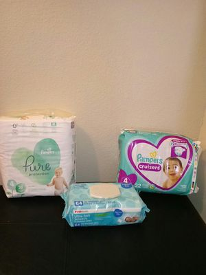 Pampers Pure and Cruisers (Size 4) for Sale in Austin, TX