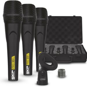 Pro Audio PRO-33K Dynamic Cardioid Microphone Kit (3 Microphones for Sale in Miami Springs, FL