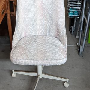 Tastefully upholstered, wheeled desk chair. Local pickup and cash only. for Sale in Clovis, CA