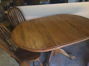 Oak table and chairs for Sale in Clyde, TX