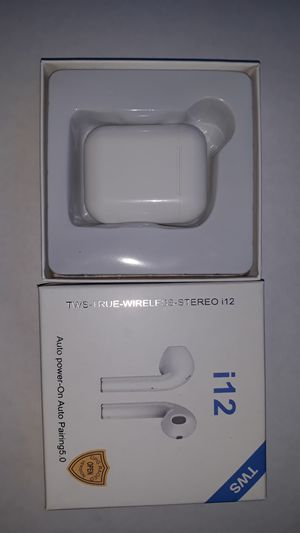 I12 TWS earbuds smart touch wireless bluetooth for Sale in Spring Valley, NY