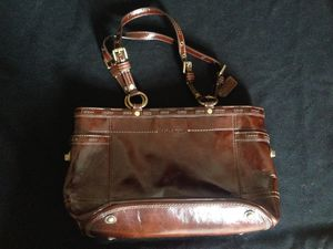 Coach dark brown patent leather satchel for Sale in Washington, DC