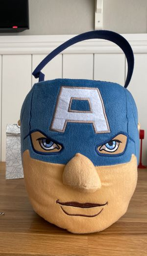 Captain America trick or treat basket for Sale in Chandler, AZ