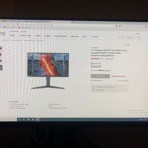 """27"""" UltraGear FHD ISP 1ms 240Hz G-Sync Gaming Monitor for Sale in Cerritos, CA"""