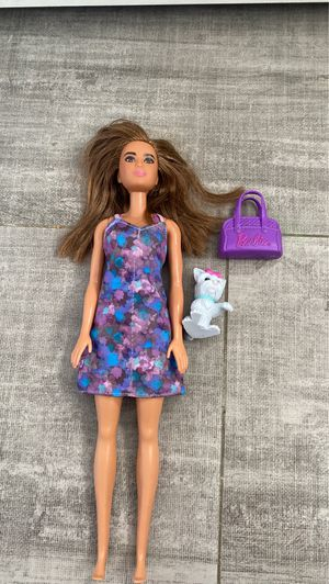 Barbie doll and dog and purse (all included) for Sale in La Habra, CA
