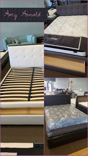 Queen Bedframe with Built in Drawer for Sale in Glendale, AZ