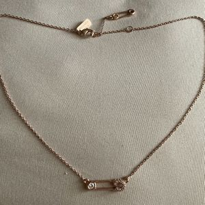 Melinda Maria Rose Gold Safety Pin Necklace for Sale in New Cumberland, PA