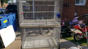 2 bird cages with cart for Sale in Warren, MI