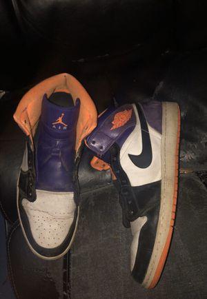 Air Jordan Retro 1 purple,orange with orange shoelaces for Sale in Rochester, NY