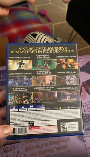 Kingdom Hearts Collection PS4 REMASTERED for Sale in Tempe, AZ