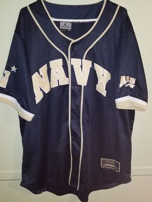Navy Baseball Jersey Pre-Owned Size XXL for Sale in Baltimore, MD