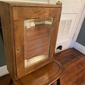 Antique Medicine Cabinet With Beveled Glass Mirror for Sale in Cheshire, CT