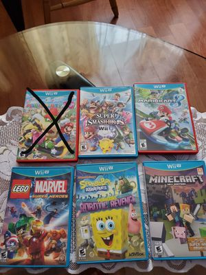 Wii U Games check discription for price (SERIOUS BUYERS ONLY PLEASE DONT WASTE MY TIME AND YOURS ) for Sale in Elgin, IL