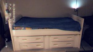 Twin bed with frame for Sale in Omaha, NE
