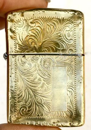 Collectibles-Used Embossed Solid Brass Zippo Lighter for Sale in Lodi, CA