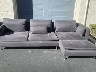 Grey Microfiber Sectional Couch for Sale in Las Vegas,  NV