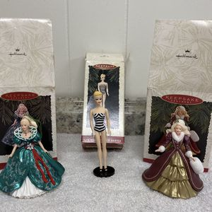 Barbie Christmas ornaments Lot of 3 for Sale in Corona, CA