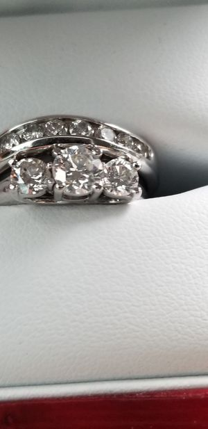 Trinity diamond ring with wedding band for Sale in Nashville, TN